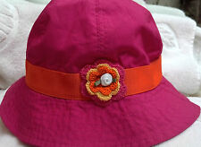 HAT SUNHAT 18 24 MONTHS 3 3T 4 4T YEARS GIRLS BABY INFANT TODDLER PINK ORANGE