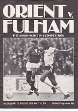 ORIENT  V FULHAM ANGLO-SCOTTISH CUP 11/8/76