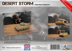 """Coastal Kits """"1:35 Desert Storm Base & Background with attachment clips"""""""