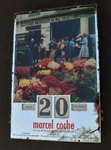 Calendrier perpétuel gerrer marcel coche Nice (fleurs fleuriste )