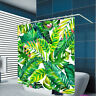 1PC Waterproof 3D Printing Green leaf Bath Shower Curtain Curtains  Hooks