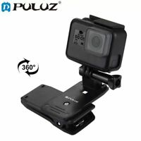 Rotate Backpack Clip Clamp Mount for GoPro Hero 7/6/5/4/3+3 Xiaomi Yi 4K Lite