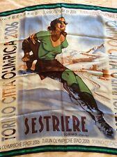 Foulard  Bolaffi scarf  in seta, Olimpiadi Torino 2006 Sestriere