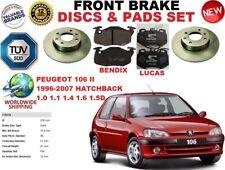 für Peugeot 106 II Fließheck 96-07 solide vordere SET BREMSSCHEIBEN+BREMSBELÄGE