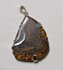 Pendentif argent opale Yowah Boulder 71,75 carats - Natural Opal Silver pendant
