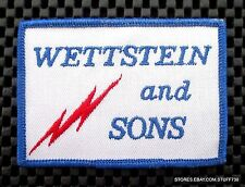 "WETTSTEIN AND SONS EMBROIDERED PATCH APPLIANCE LA CROSSE WI 3 3/4"" x 2 1/2"""