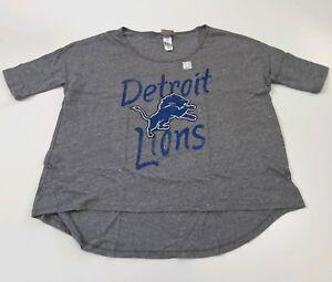 Detroit Lions NFL Women's Junk Food High Low Wide Fashion T Shirt Size L