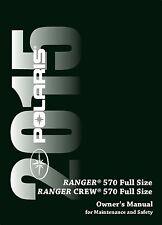 Polaris Owners Manual Book 2015 RANGER 570 Full Size