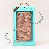 Kate Spade Wrap Snap Case For iPhone 7 / iPhone 8 - Rose Gold Exposed Glitter
