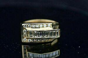 14K Yellow Gold Plated Marvallous Engagement Designer Modern Ring 2.9Ct Diamond