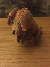 Vintage Mechanical Toy Dog, Wind Up, Occupied Japan, Glass Eyes, Flop Ears