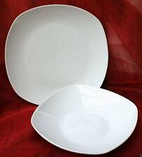 Tafelservice Eßservice 12-tlg. Porzellan weiß eckige Form