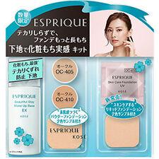 Kose Japan ESPRIQUE Beautiful Stay Make Up Base EX (30g/1oz.) SPF50+ Bonus Set