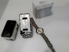 NEW DISNEY MCK168 Mickey Mouse Men's Analog Silver-Tone Watch OOP