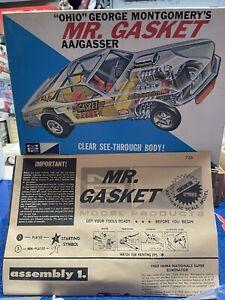 vintage model car kit 1969 Mr.gasket Clear Body Funny Car Mpc
