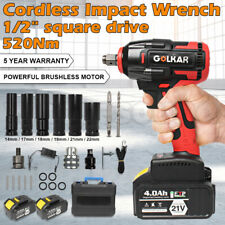 520nm 12 Square Drive Lithium Ion Cordless Impact Wrench Withgun Battery Charger