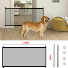 Folding Retractable Pet Dog Gate Safety Guard Baby Toddler Stair Isolation