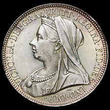 1901 plata de Reina Victoria velada cabeza Florin, Bu