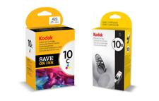 GENUINE Kodak Ink 10B AND 10C (Black AND Colour Inks). 2 Ink Cartridges