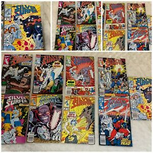 Silver Surfer Comic lot: 43, 53, 54, 55, 56, 59, 63, 64, 65  Infinity Gauntlet A