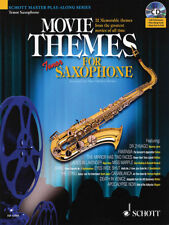 Movie Themes Tenor Sax Solo Sheet Music Saxophone Play-Along Book CD Pack NEW