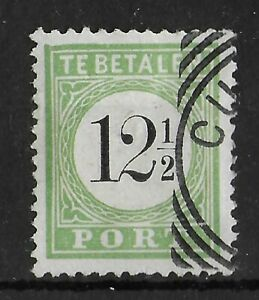 CURACAO 1889 Used Postage Due 12 1/2 C Key Value NVPH #P4 CV €275 VF