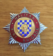 An old  Halifax  Fire Brigade, cap badge. Small Star.