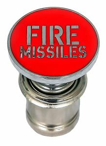 Universal Red Fire Missiles Push Button Car Cigarette Lighter 12-volt Accessory