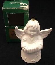 Goebel 1979 Bisque Angel-Bell Christmas Tree Ornament Tmk-5 Trademark