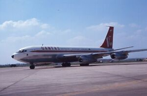 QANTAS Australia Boeing 707 V-Jet c/s VH-EBJ 1969 - Ecktachrome 35mm slide