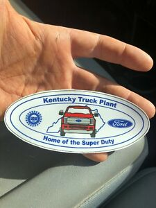 4th gen 2017 Kentucky Truck Plant WindshieldDecalSticker Ford Super Duty KTP