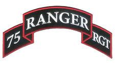 "Large 75th Infantry Regiment -US Ranger Scroll - 7"" X 3 1/2"" - Non Merrowed Edge"