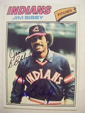 JIM BIBBY signed INDIANS 1977 Topps baseball card AUTO Autographed PIRATES #501