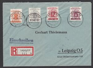 Germany. Soviet Zone. West Saxony. Registered Cover to Leipzig sent 13/2/1946