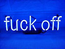 "New Fvck Off Blue Neon Light Sign Lamp Beer Pub Acrylic 14"" Fast Ship"