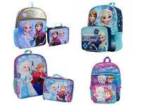 Disney Frozen Elsa Anna Girls School Backpack Lunch box Book Bag Kids Gift Toy