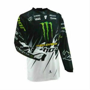 Monster Energy Mens Off-Road Moto Jersey Race Dirt ATV MX DH Mountain Bike HQ UK