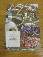 26/04/2007 Surrey County Sunday Junior Cup Final: Battersea Ironsides v Feltham
