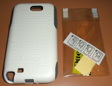 OtterBox Commuter case Samsung Galaxy Note II, White & Gray w PET screen protect