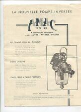 N°9245 / dépliant AMAC type 130 pompe inversée à commande mécanique