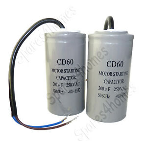 200uf 300uf CD60 250VAC 50/60hz Electric Motor Start Capacitor