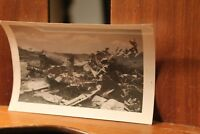 WWII ca.1944 Photo 3.25x4.5 Crashed Japanese Mitsubishi Plane Bomber
