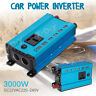 3000W 12V à AC220V LED Numérique Puissance Inverter Onduleur Convertisseur Bleu