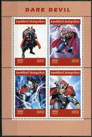 Madagascar 2019 MNH Daredevil ERROR Thor 4v M/S Marvel Superheroes Comics Stamps
