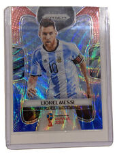 2018 Prizm World Cup Lionel Messi Red Blue Base Parallel !HARD CASE! *MINT*