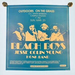 """Vintage Beach Boys Jesse Young Honk Band Pacific Presentations Poster 17 X 16"""""""