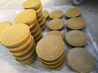 BEESWAX BLOCKS 1KG  . BEE KEEPING. BEE EQUIPMENT. CANDLE MAKING. FOOD WRAPS.