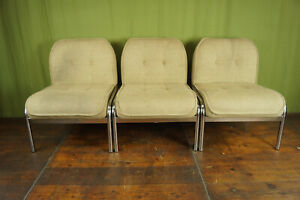 70er Vintage Chair Lounge Easy Chair Chrome Designer Club Chair Space Age 1/3