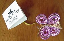 Glass Beaded Clip on Butterfly Ornament by Holly and Ivy made in Czech Republic