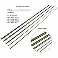 IM12 11.6 4/5 5/6 7/8 8/9 Fast Action Spey Salmon Switch Blanks Fly Fishing Rod